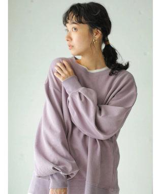 earth music&ecology オーガニックコットン裏毛(クルー) Lavender