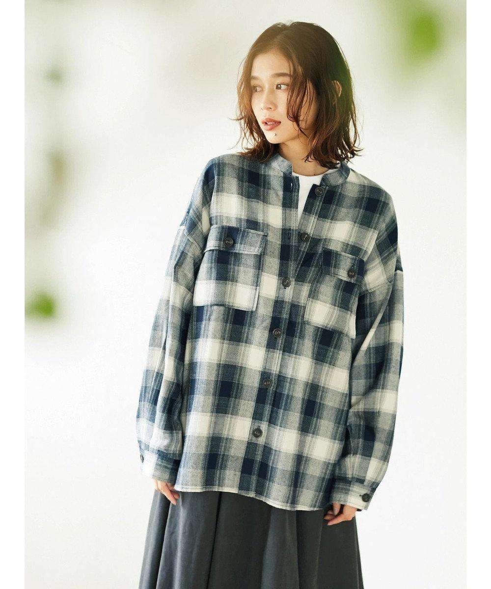 Green Parks ・ELENCARE DUE オンブレービックシャツ Black
