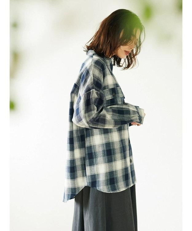 Green Parks ・ELENCARE DUE オンブレービックシャツ