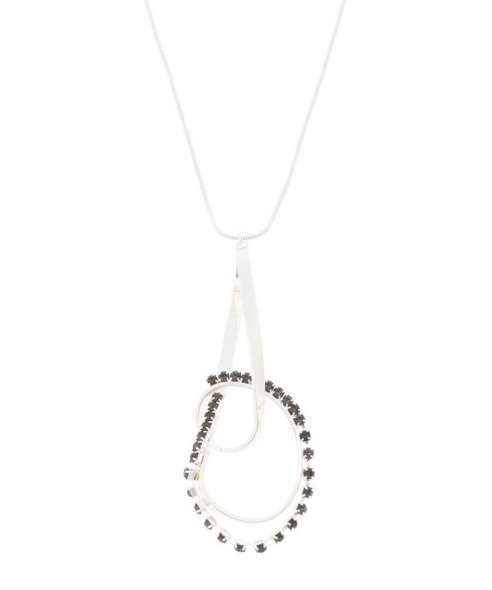YECCA VECCA ・ビジューデザインネックレス Silver