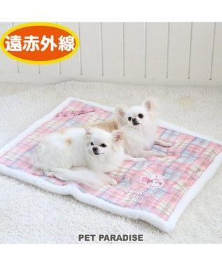PET PARADISE ディズニー ミニーマウス ふんわり 遠赤外線 ラグマット ピンク(淡)
