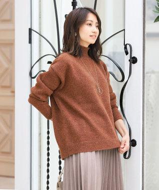 Tiaclasse 【洗える】大人上品なスエード調プリーツスカート シナモンピンク