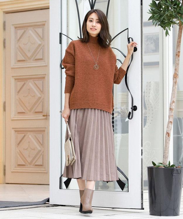 Tiaclasse 【洗える】大人上品なスエード調プリーツスカート