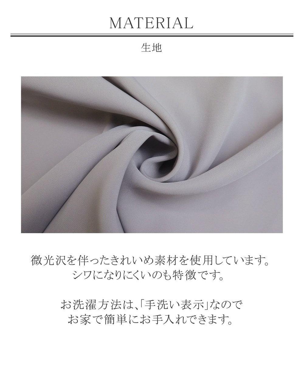 Tiaclasse 【洗える】1枚でサマになるセパレート風レースコンビワンピース ベージュ×ブラック