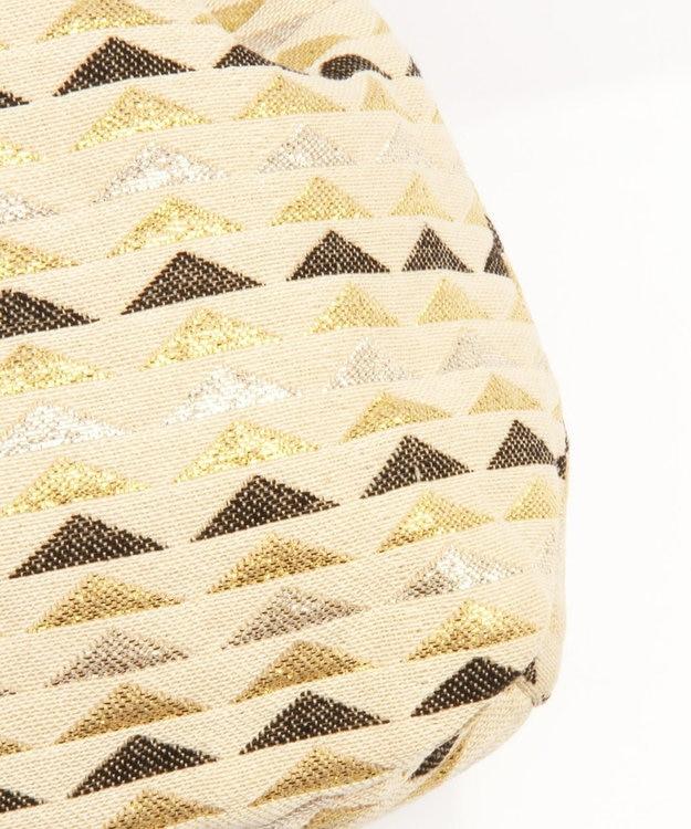 WYTHE CHARM 【インド産ジャガード】ミニマル巾着バッグ(三角メタリック柄)