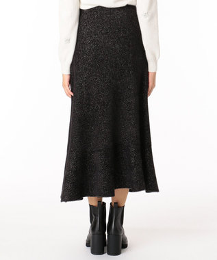 GRACE CONTINENTAL ラメプレーティングニットスカート ブラック