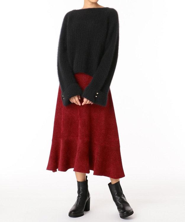 GRACE CONTINENTAL ラメプレーティングニットスカート