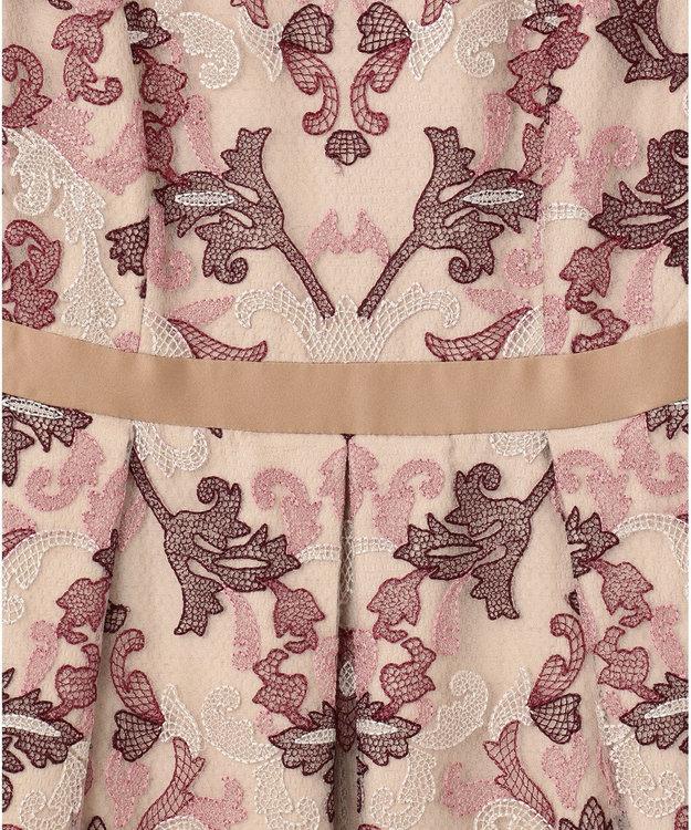 GRACE CONTINENTAL オーナメントチュール刺繍ドレス