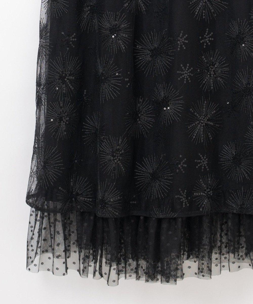 GRACE CONTINENTAL ラメスパン刺繍ドレス ブラック
