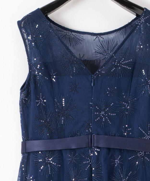GRACE CONTINENTAL ラメスパン刺繍ドレス