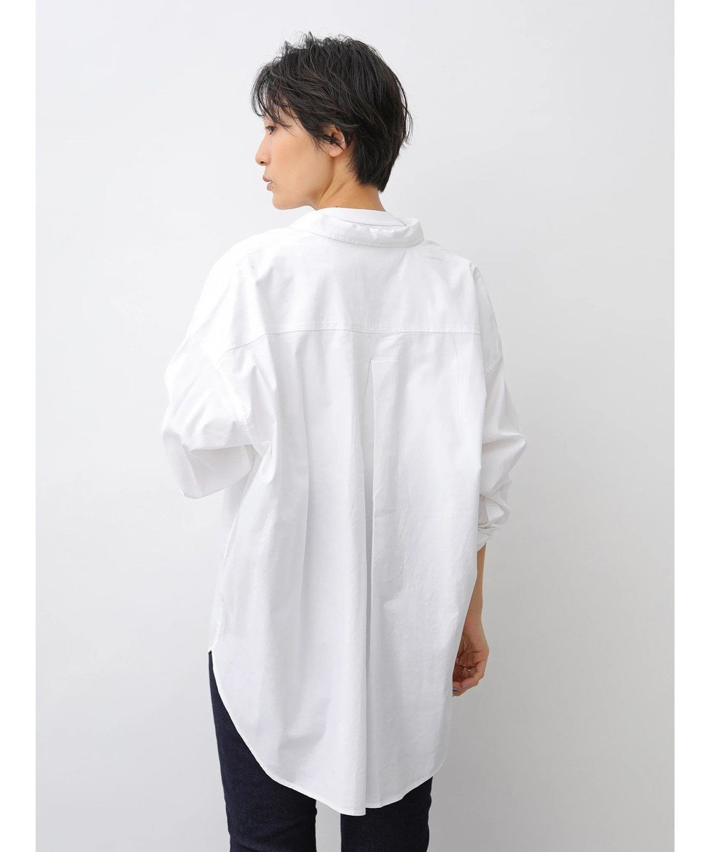 AMERICAN HOLIC バックタック綿ビエラシャツ Off White