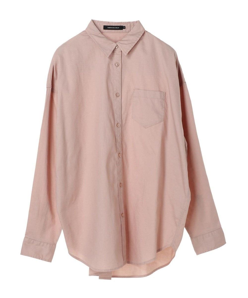 AMERICAN HOLIC バックタック綿ビエラシャツ Pink Beige