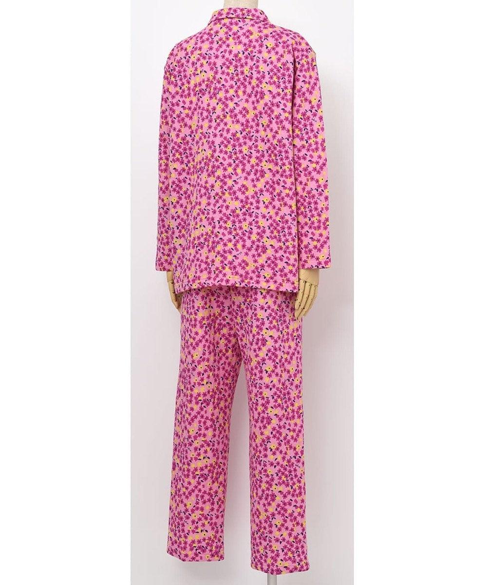 Wing 【パジャマ】小さな花柄 ロング袖・ロングパンツ ウイング/ワコール ロマンピンク
