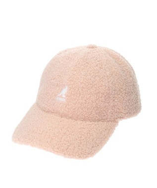 earth music&ecology ■KANGOL Sheep Fur Baseball Cap Pink