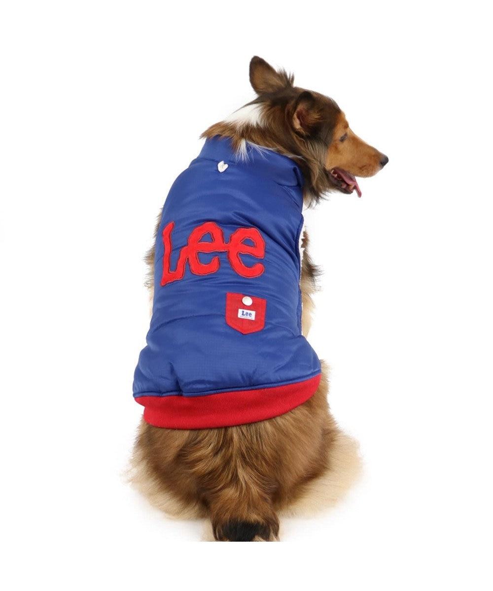 PET PARADISE Lee 綿入り ベスト 紺 〔中・大型犬〕 紺(ネイビー・インディゴ)