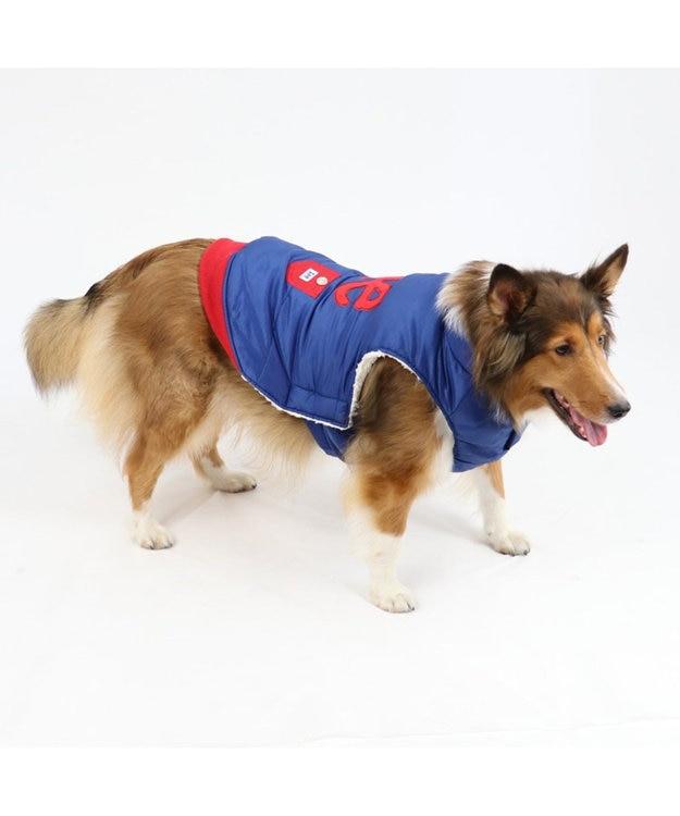 PET PARADISE Lee 綿入り ベスト 紺 〔中・大型犬〕