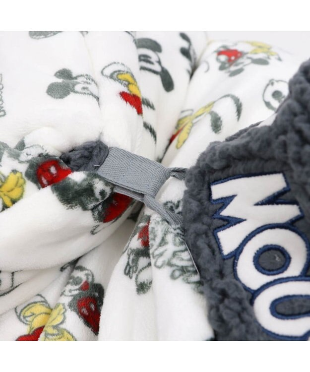 PET PARADISE ミッキーマウス 遠赤外線 手書き風 筒型寝袋カドラー(42cm)