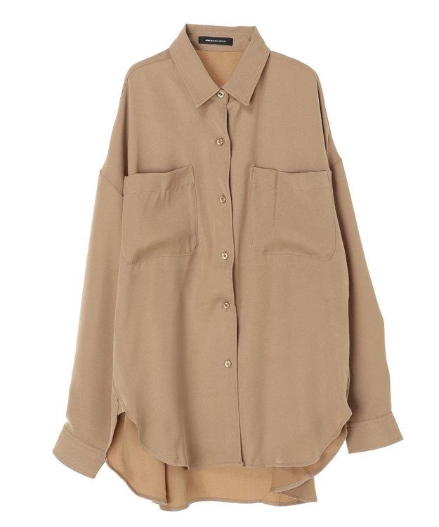 AMERICAN HOLIC WポケットとろみBIGシャツ