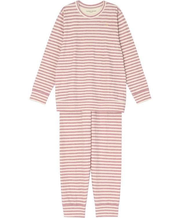 tsumori chisato SLEEP パジャマ ロング袖ロング丈 ボーダー柄・ネコ顔刺繍 /ワコール UDQ232