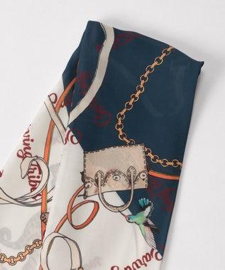 GRACE CONTINENTAL CT スカーフ ネイビー