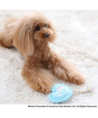 PET PARADISE ミニオン フラッフィー トイ  犬用  おもちゃ 水色