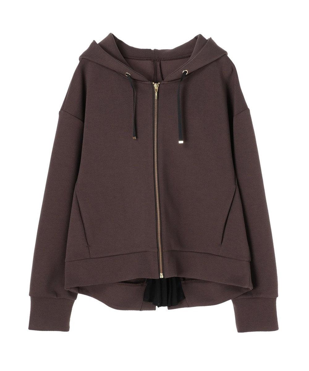YECCA VECCA ・バックプリーツZIPフーディー Charcoal Gray