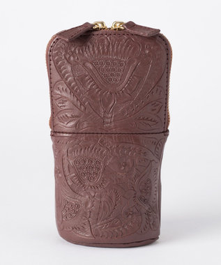 GRACE CONTINENTAL Carving pen case ブラウン