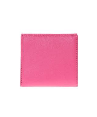 LANVIN en Bleu LANVIN en Bleu ランバンオンブルー ミネット ボックス二つ折り財布 カシスピンク