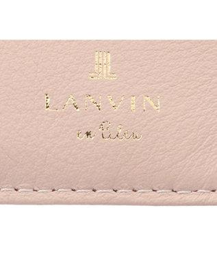 LANVIN en Bleu LANVIN en Bleu ランバンオンブルー ミネット ボックス二つ折り財布 ペールピンク