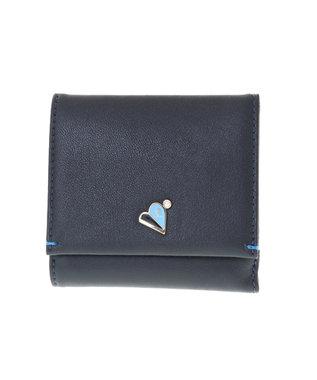LANVIN en Bleu LANVIN en Bleu ランバンオンブルー ミネット ボックス二つ折り財布 ダークネイビー