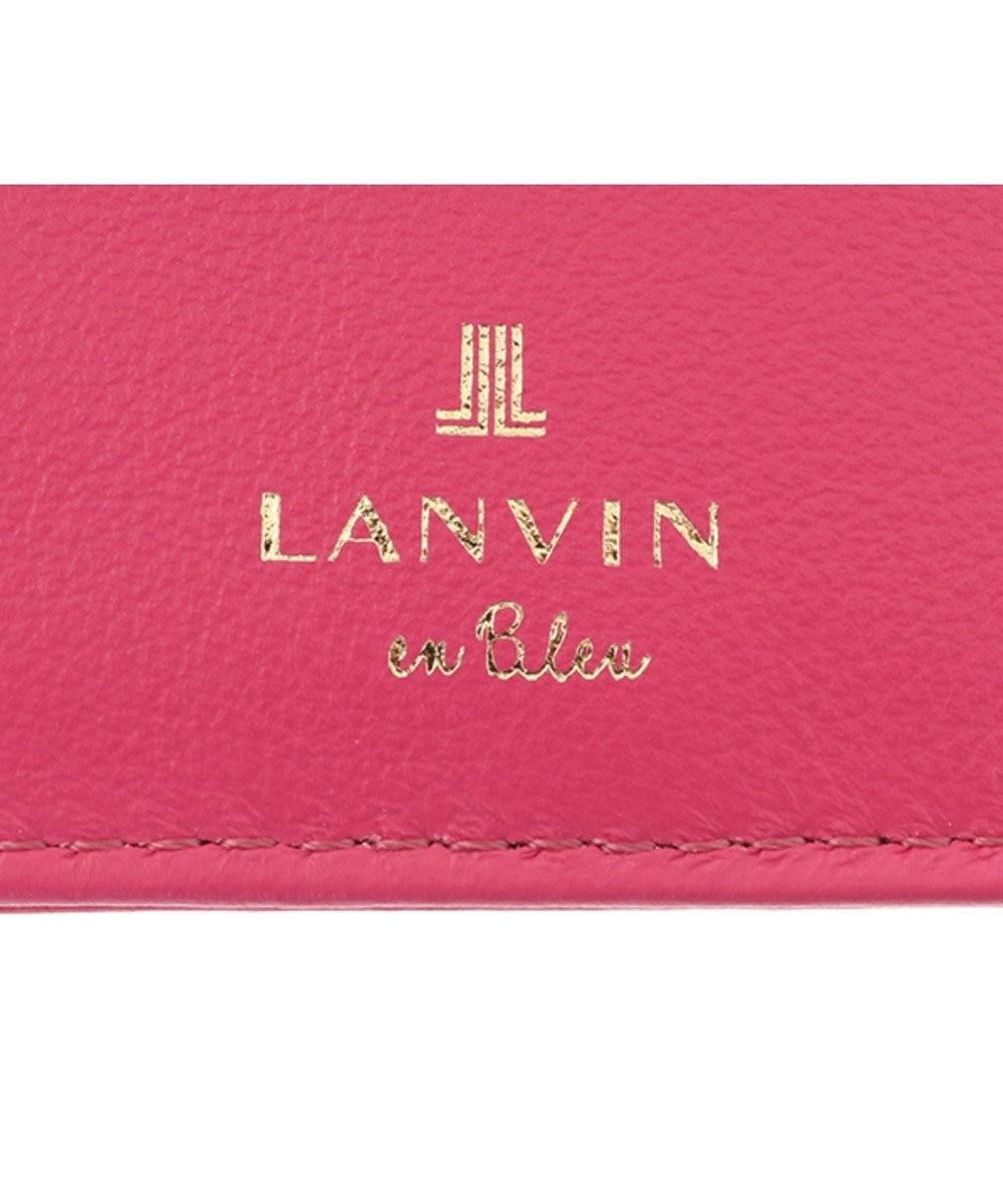 LANVIN en Bleu LANVIN en Bleu ランバンオンブルー ミネット Lファスナー二つ折り財布 カシスピンク