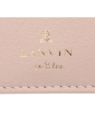 LANVIN en Bleu LANVIN en Bleu ランバンオンブルー ミネット Lファスナー二つ折り財布 ペールピンク