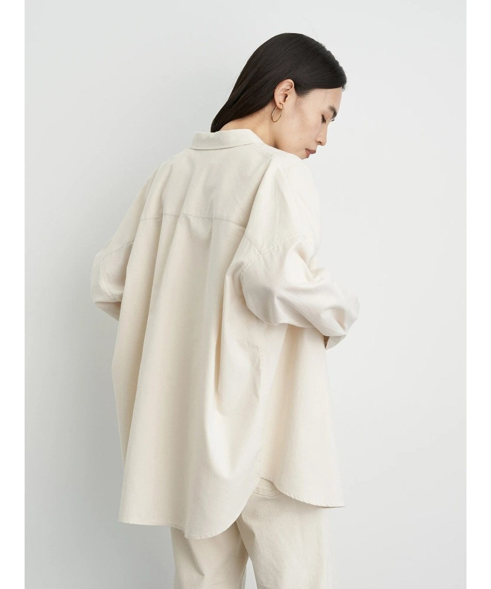AMERICAN HOLIC 綿ビエラドルマンチェックシャツ Ivory