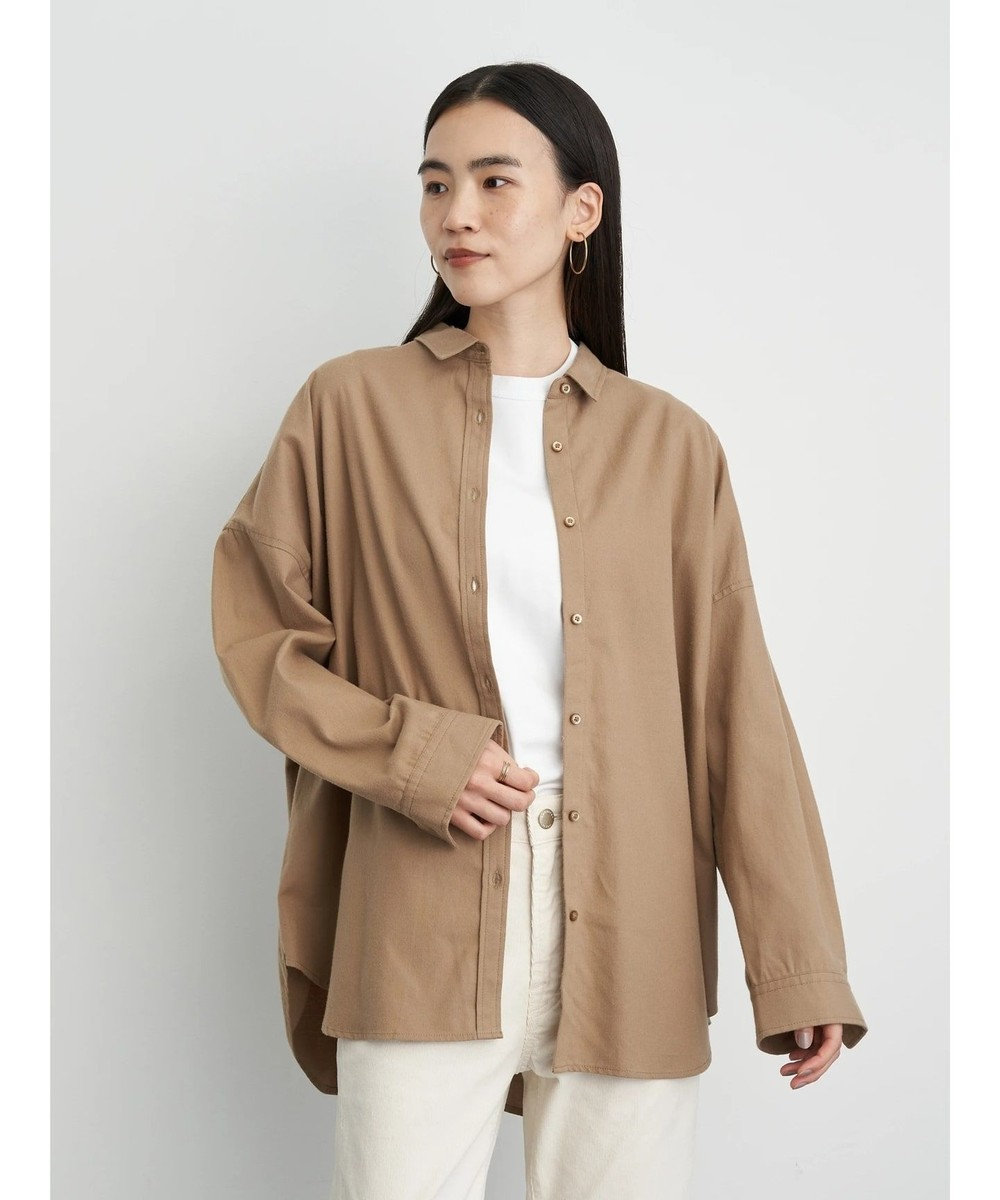 AMERICAN HOLIC 綿ビエラドルマンチェックシャツ Beige