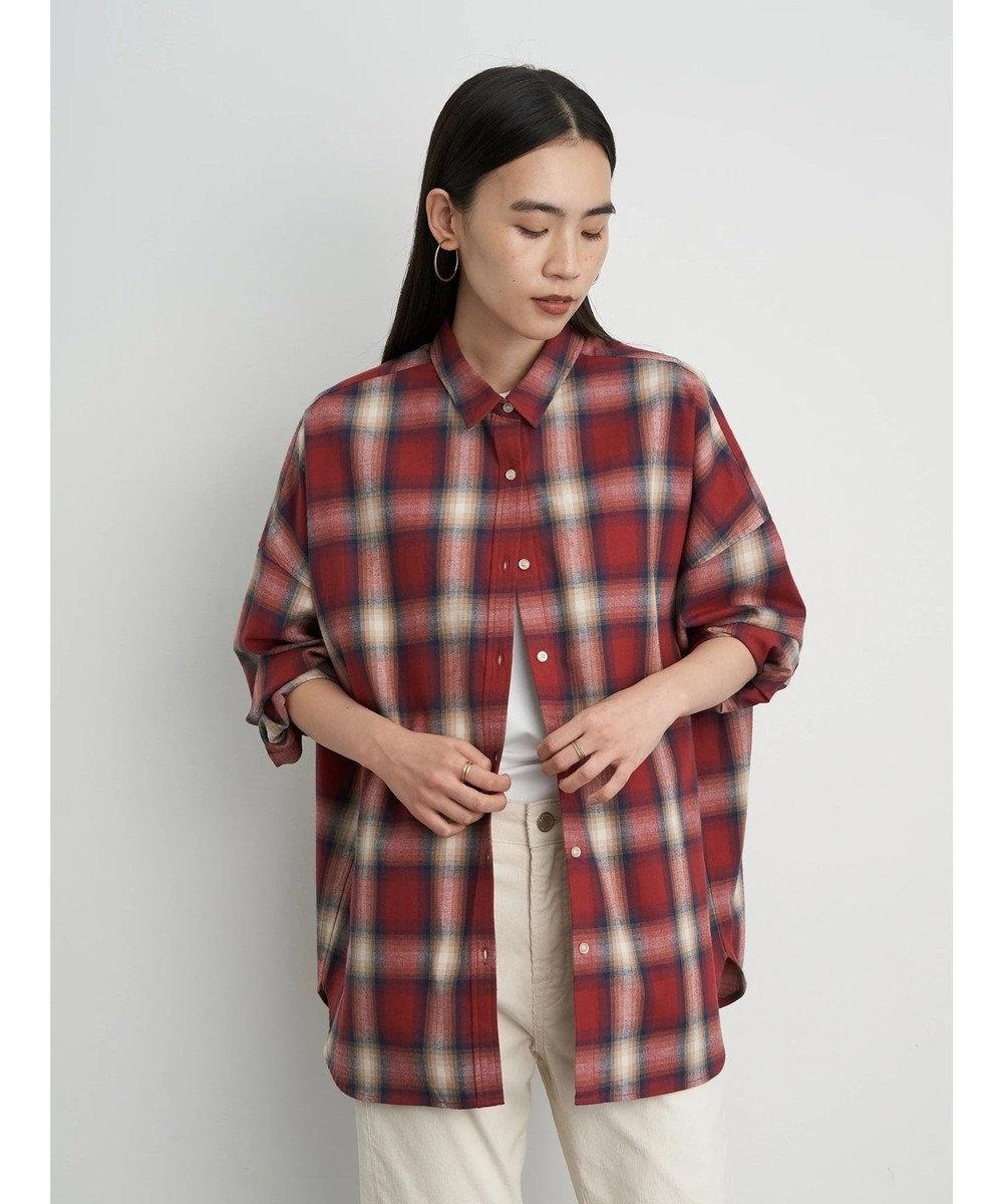 AMERICAN HOLIC 綿ビエラドルマンチェックシャツ Check RED
