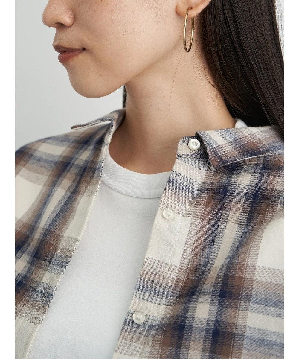 AMERICAN HOLIC 綿ビエラドルマンチェックシャツ Check Ivory