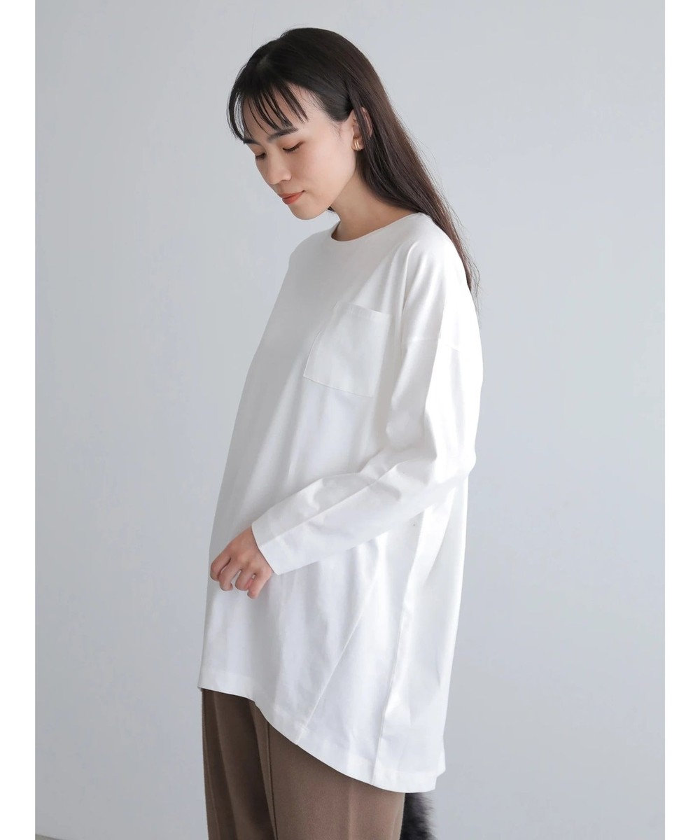 AMERICAN HOLIC ポケット付きコクーンカットチュニック Off White