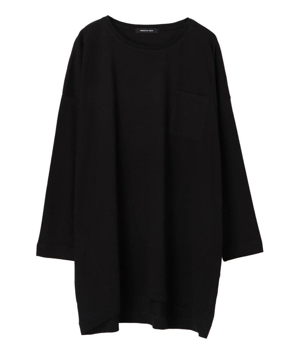 AMERICAN HOLIC ポケット付きコクーンカットチュニック Black