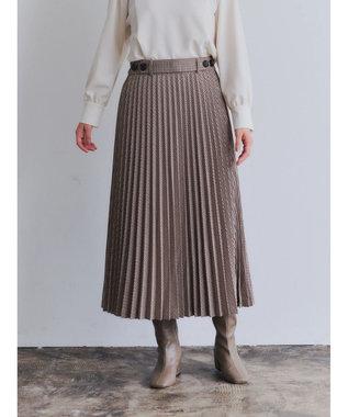 YECCA VECCA チェック柄ボタンデザインプリーツスカート Check