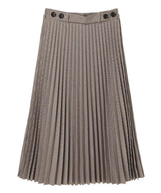 YECCA VECCA チェック柄ボタンデザインプリーツスカート