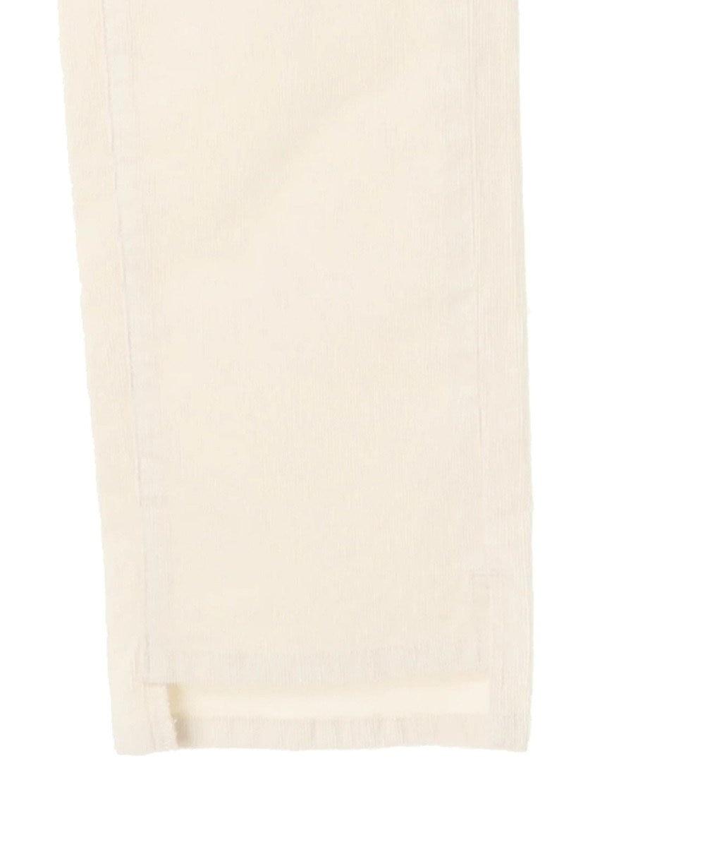 AMERICAN HOLIC 裾スリットコーデュロイストレート Ivory