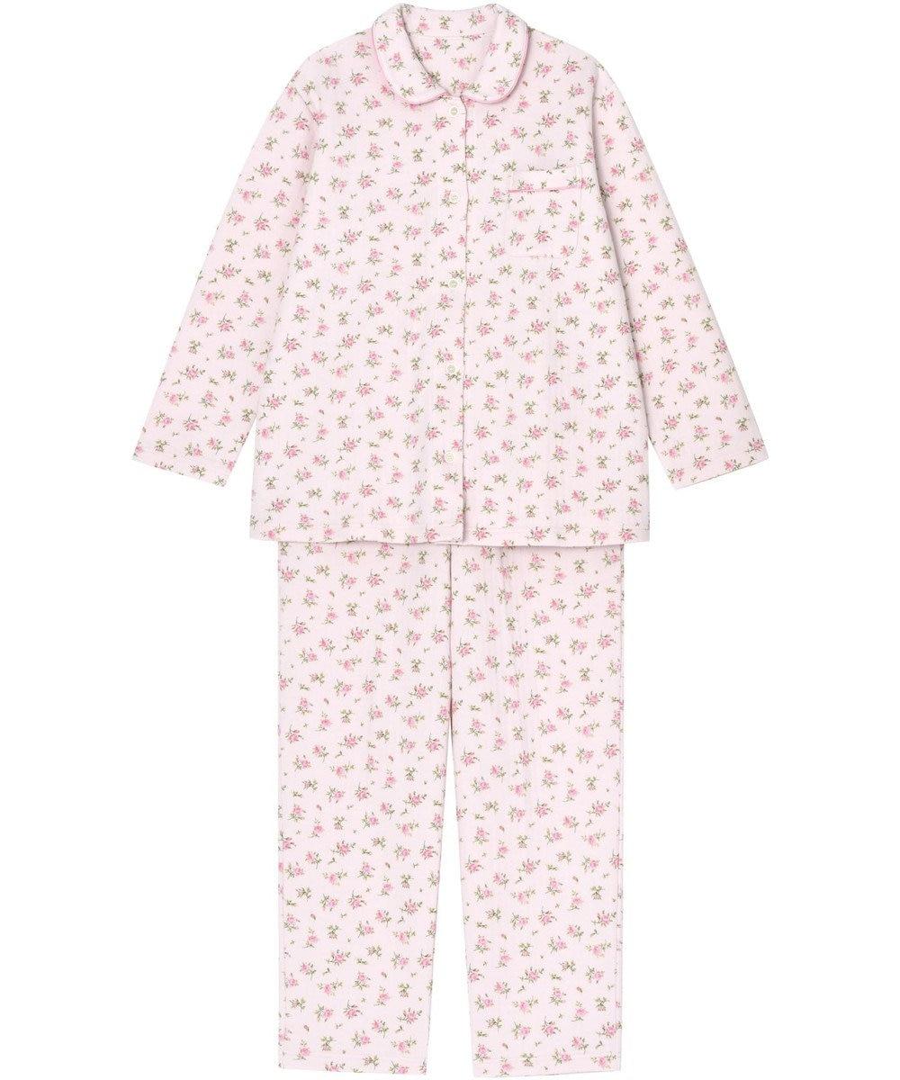 Wing 【パジャマ】ミニバラ柄 ロング袖・ロングパンツ ウイング/ワコール EP6082 ピンク