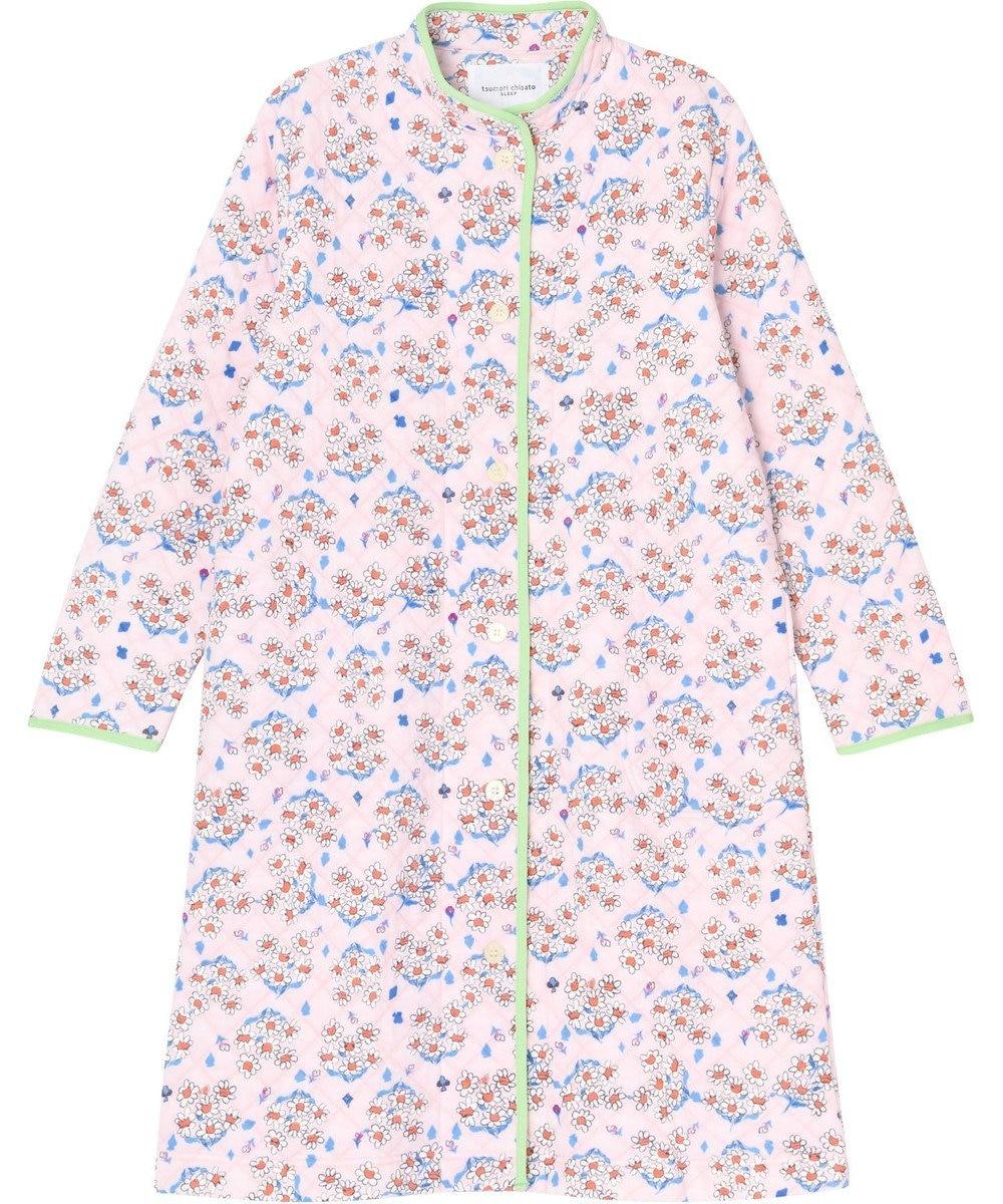 tsumori chisato SLEEP ローブ ロング袖 マーガレットブーケ柄 /ワコール URR365 ピンク