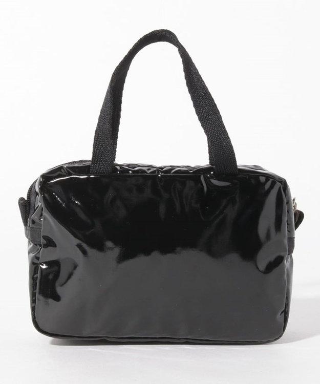 LeSportsac MICRO BAG/ブラックパテントシル