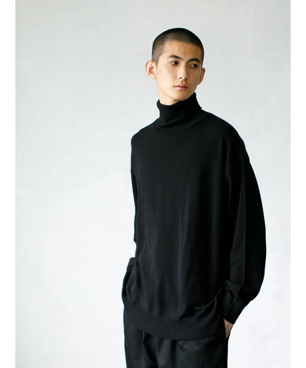 koe (マシーンウォッシャブル)タートルネックニット Black