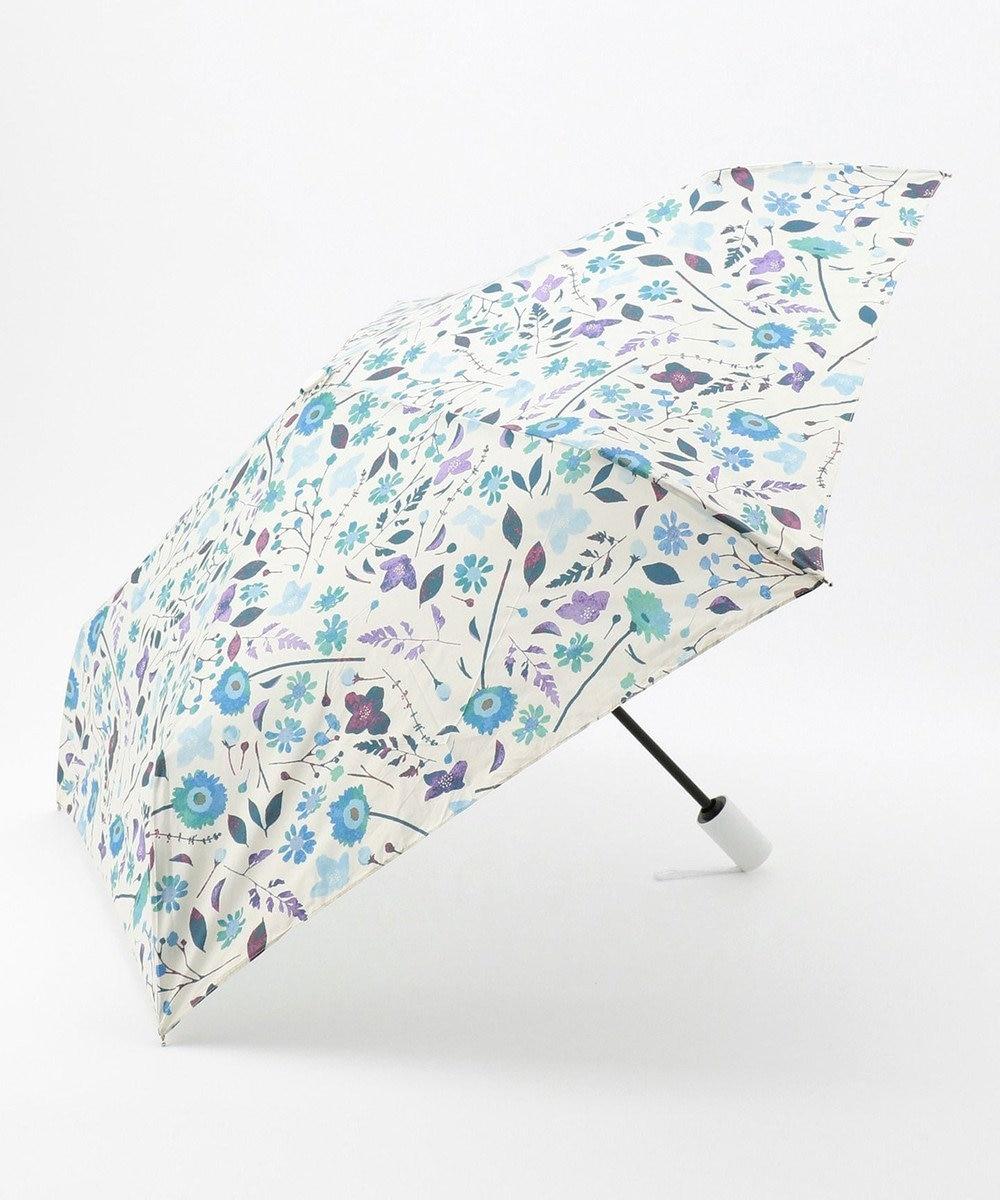 MOONBAT estaa 自動開閉折りたたみ傘 はなばな スカイブルー