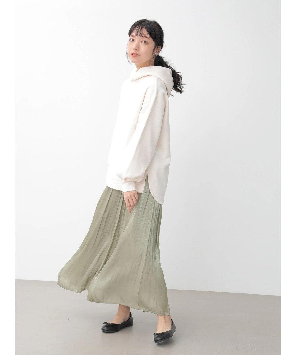 earth music&ecology シャイニーサテンギャザースカート Mint