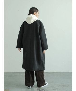 AMERICAN HOLIC ドロップショルダーニュアンスコート Black