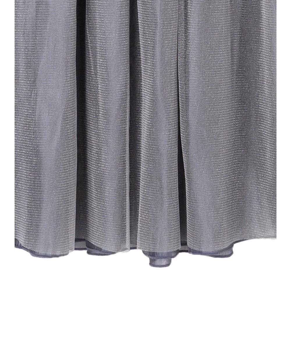 YECCA VECCA ・チュール×サテンリバーシブルスカート Grayish Blue