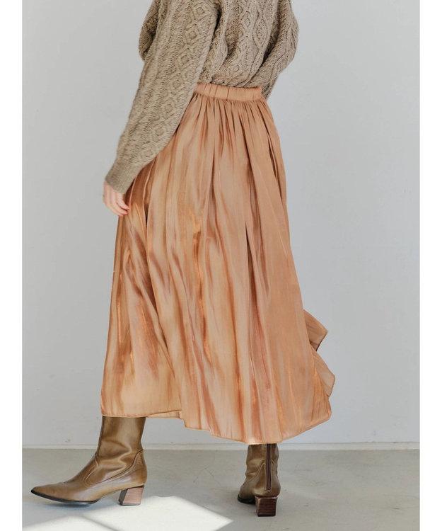 YECCA VECCA ・チュール×サテンリバーシブルスカート